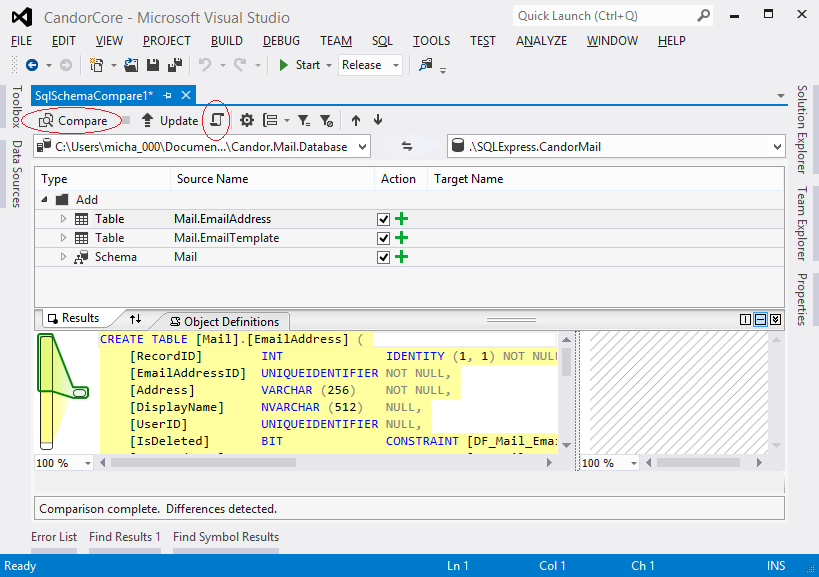 how to create search button for database in visual studio